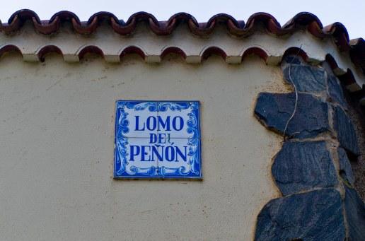 Letrero Lomo del Peñón